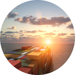 Image of a container ship for the Export Market Development Grant page